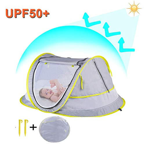 StillCool Baby Reisebett Portable Pop Up Sommer Strand Moskitonetz & Sun Shelter mit 2 Pegs Falten Infant...