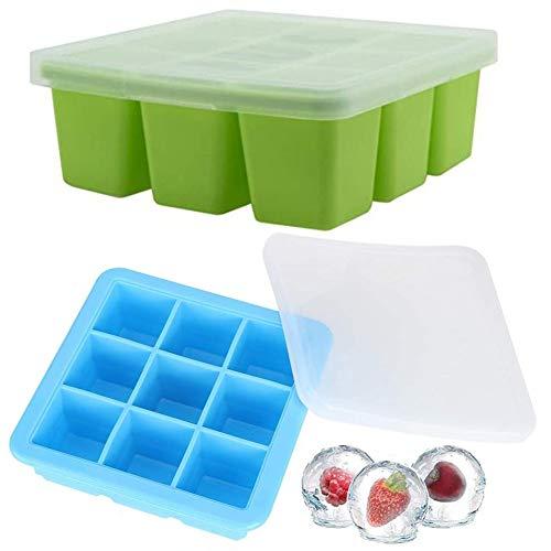 Eiswürfelbehälter mit Deckel Babynahrung -WENTS Gefrierform zum Einfrieren Babykost,...