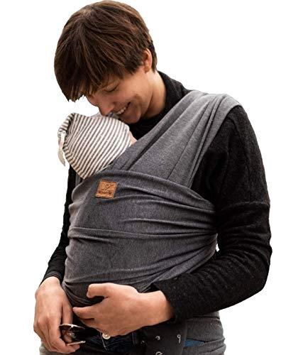 SOVERDE® Tragetuch Baby Extra Lang, Samtweich & Elastisch - Babytragetuch passend für jeden Körpertypen -...