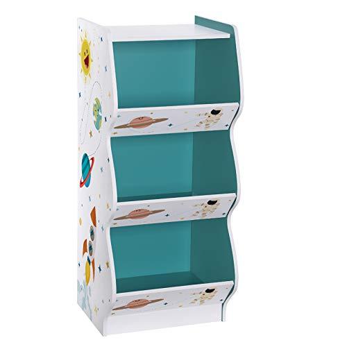 SONGMICS Kinderzimmerregal, Spielzeug-Organizer mit 3 Fächern, Standregal für Kinder, Spielzeugregal,...