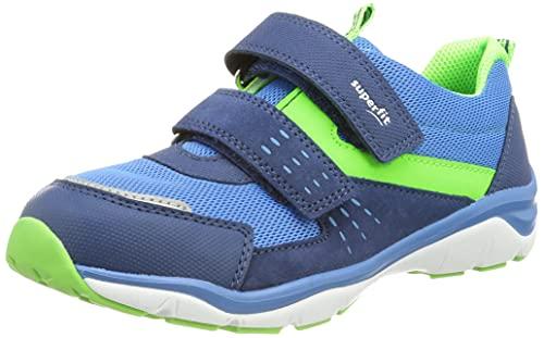 Superfit Jungen Sport5 Sneaker, BLAU/GRÜN 8000, 28 EU