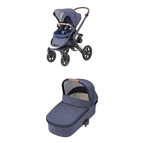 Maxi-Cosi Nova 4-Rad Kombi-Kinderwagen, komfortabel für Stadt und Land, Sparkling blue + Oria Babywanne, ab...