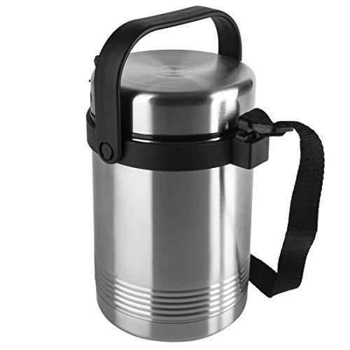 EMSA 504207 SENATOR Isolier-Speisegefäß 1,4 L Edelstahl mit 2 Speiseeinsätzen à 420 ml - hält 6 h heiß -...