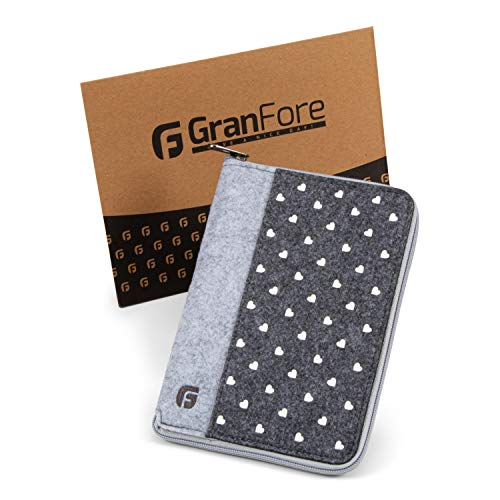 GranFore Mutterpasshülle - Mit Reißverschluss zur sicheren Aufbewahrung - Hülle für Mutterpass aus Filz -...