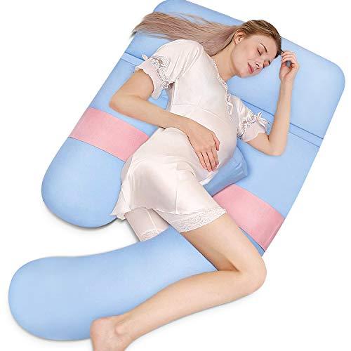 HBselect Schwangerschaftskissen 4 Teile für den ganzen Körper U-förmiges Seitenschläferkissen...