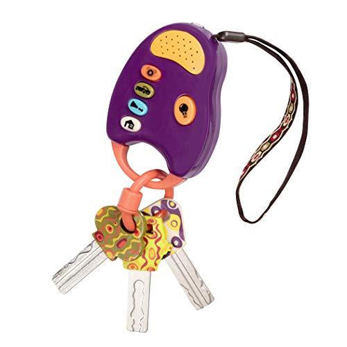 B. toys Baby Spielzeug Bunte Spielzeugschlüssel – Autoschlüssel mit Licht und Geräuschen – 100%...