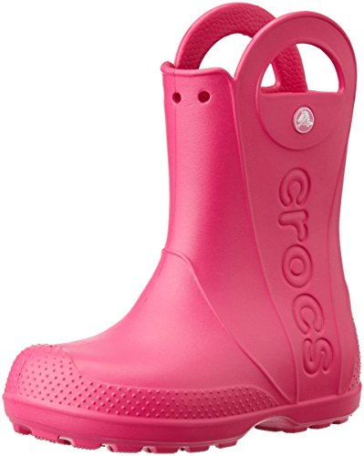 Crocs Handle It Rain Boot, Unisex - Kinder Gummistiefel, Pink (Candy Pink), 22/23 EU