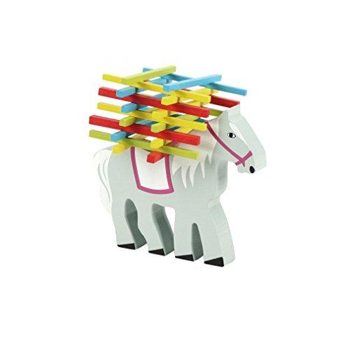 Natureich Pferd Montessori Stapel Spielzeug aus Holz zum Geschicklichkeit Lernen mit Stäbchen Bunt / Natur ab...