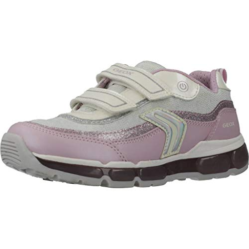 Geox Mädchen J Android Girl a Sneaker, Pink (White/Pink C0406), 24 EU