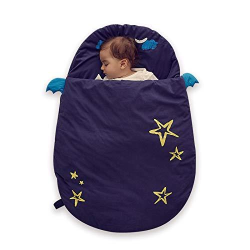Bebamour Anti Kick Babyschlafsack Safe Nights Cotton Babyschlafsack 2,5 Tog 0-18 Monate und älter Cute Infant...