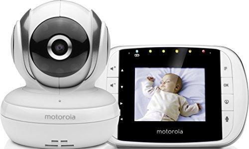Motorola Baby MBP 33S Video Babyphone , Wireless Baby-Überwachungskamera , Temperatursensor und 300 m...