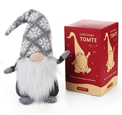 Agoer Schwedische Wichtel Kobold, 49 cm Schwedischen Weihnachtsmann Santa Tomte Gnom, Urlaub Dekoration...