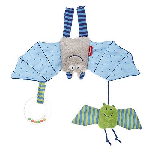 sigikid, Mädchen und Jungen, Aktiv-Anhänger Fledermaus mit Rassel, Baby bite me, Blau/Grün, 41013
