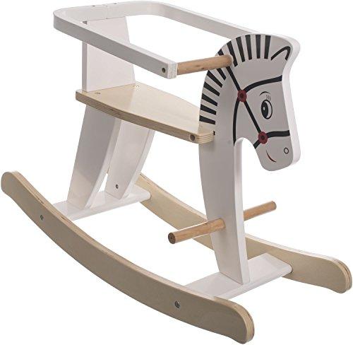 Bieco Schaukeltier Zebra 68x26,5x48cm | Schaukelpferd Baby | Schaukeltier Baby | Kinderschaukel Indoor | Baby...