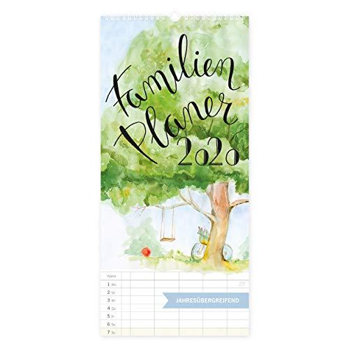 Familienplaner 2020 Kalender mit 5 Spalten XXL, Jahresplaner, Wandkalender für Familien 2020, zum Aufhängen...