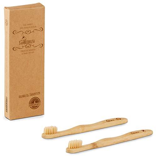 BeeClean PREMIUM Zahnbürste 2er Set – Hochwertige Bürste – Nachhaltiges Bambus Holz – Ökologische...