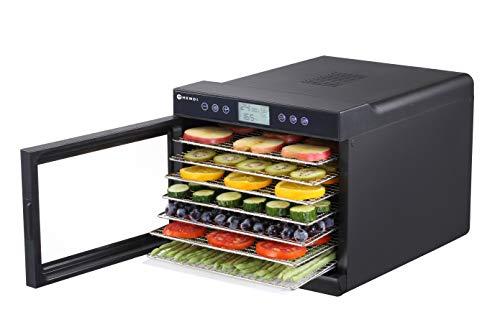 HENDI Dörrautomat, Dehydrator, Dörrgerät, 7 Blechen, für Lebensmittel, Obst- Fleisch- Früchte-, Gemüse-,...