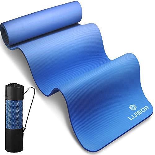 Luibor Yogamatte, Sportmatte Gymnastikmatte 10 mm dicke Fitness und Trainingsmatte Rutschfeste mit...