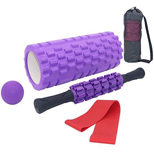 Soulpala Faszienrolle Foam Roller Set 5 in 1,Muskelroller,Faszienrolle Faszienball Widerstandsbänder und...