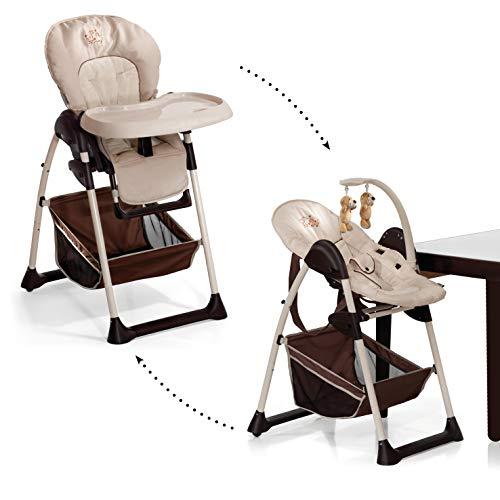 Hauck Sit'n Relax Newborn Set – Neugeborenen Aufsatz und Kinderhochstuhl ab Geburt, mit Liegefunktion /...