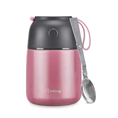 Thermobehälter für Essen, Lunchbox für Kinder/Erwachsene, Suppe Speisebehälter mit Faltbarem Löffel für...