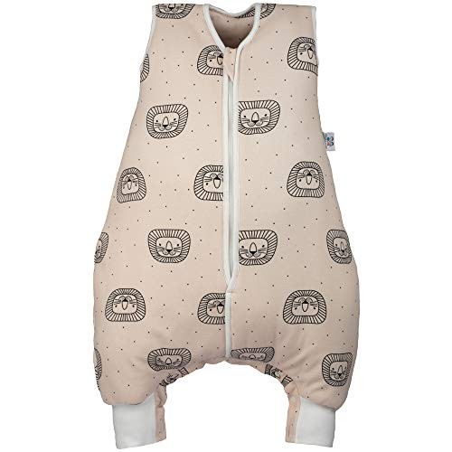Hosenmax Babyschlafsack mit Beinen – Bio Baumwolle – Ganzjahres Schlafsack Baby – Verspielter Löwe...