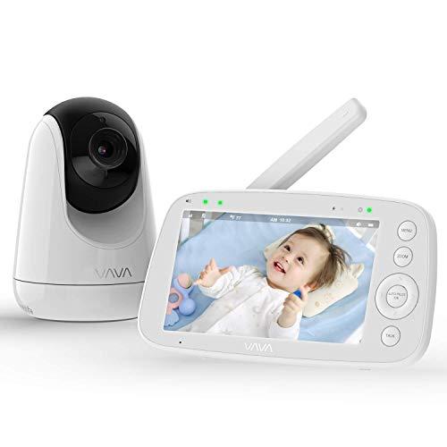 Babyphone mit Kamera, VAVA 5 Zoll Video Baby Monitor, 720P IPS HD Display, Nachtsicht, Weitwinkelobjektiv,...