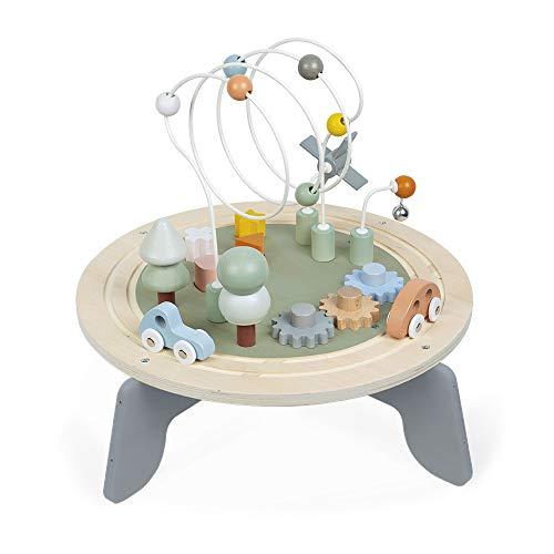 Janod - Sweet Cocoon Aktivitätstisch aus Holz - Multi-Spieltisch, für Kleinkinder geeignet - Aktivitäten ab...