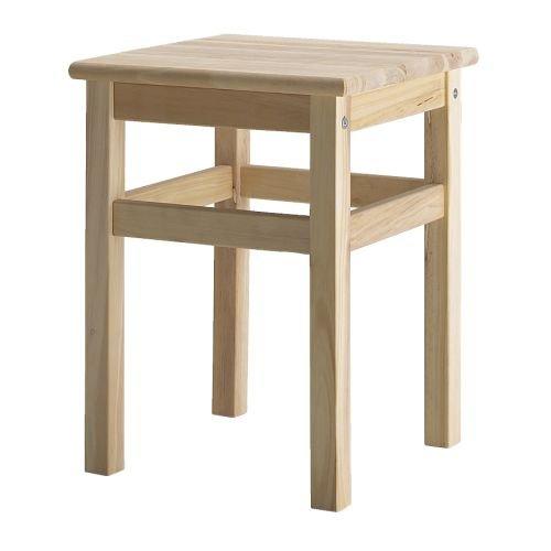 Ikea ODDVAR Holz Hocker stapelbar