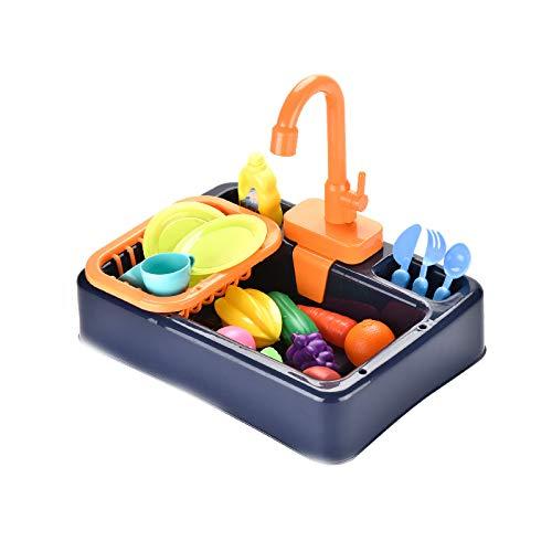 NIWWIN Pretend Play Kids Kitchen Sink Toys Set mit fließendem Wasser Lerngeschenke Jungen Mädchen Simulation...