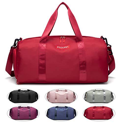 FEDUAN original Sporttasche Reisetasche Kliniktasche modisch wasserdicht mit Schuhfach Nassfach für Damen und...