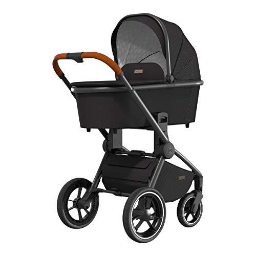 MOON RESEA S – Komfort Kombi-Kinderwagen in black – flexibel und sehr klein faltbar