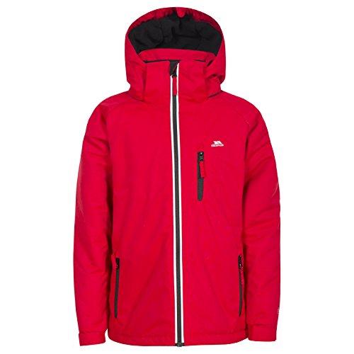 Trespass Cornell II, Red, 3/4, Warme Gepolsterte Wasserdichte Jacke mit abnehmbarer Kapuze für Kinder /...