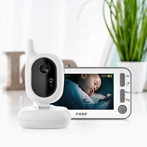 reer 80430 BabyCam Video Babyphone L, 300m Reichweite, 50 Grad Weitwinkel-Kamera, 4,3' TFT Display, mit...