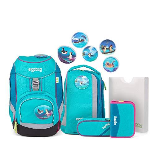 Ergobag Pack Hula HoopBär, ergonomischer Schulrucksack, Set 6-teilig, 20 Liter, 1.100 g, Blau
