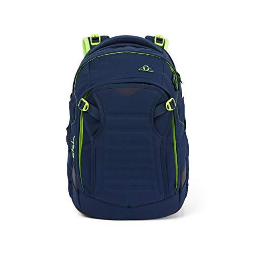 Satch match Schulrucksack - ergonomisch, erweiterbar auf 35 Liter, extra Fronttasche - Toxic Yellow -...
