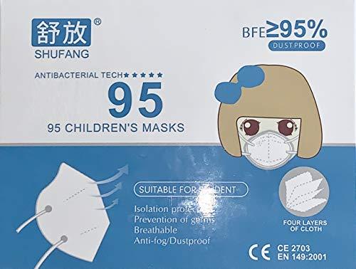 10x Kind Atemschutz Maske Premium Nasenclip Mund und und Nasenschutz Mundschutz Atemmaske - Schutzmaske mit...