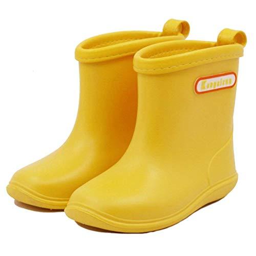 Kleinkind Baby Kinder Regen Stiefel,Soft Durable PVC Regenschuhe,Wasserdichte rutschfeste Gummistiefel...