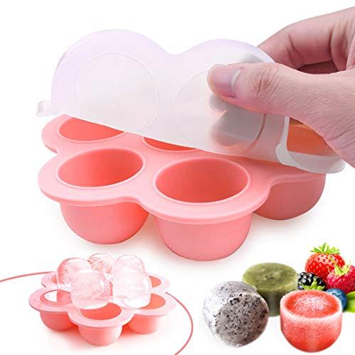 O-Kinee Gefriertablett Eiswürfelform zum Einfrieren und Aufbewahren von Babynahrung/Babykost in Portionen und...