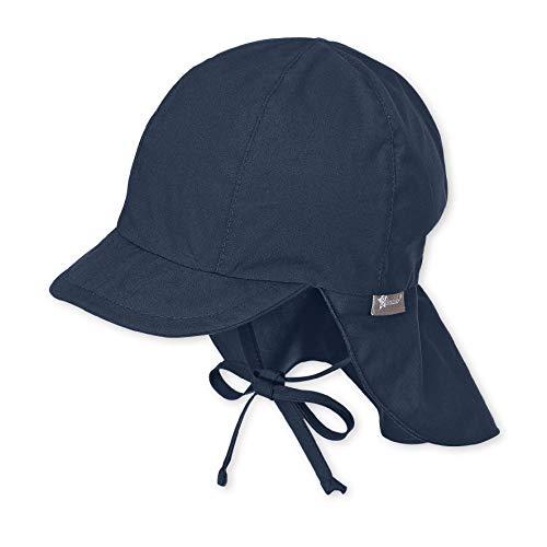 Sterntaler Unisex Schirmmütze mit Nackenschutz und Bindebändern, Alter: 9-12 Monate, Größe: 47, Blau...