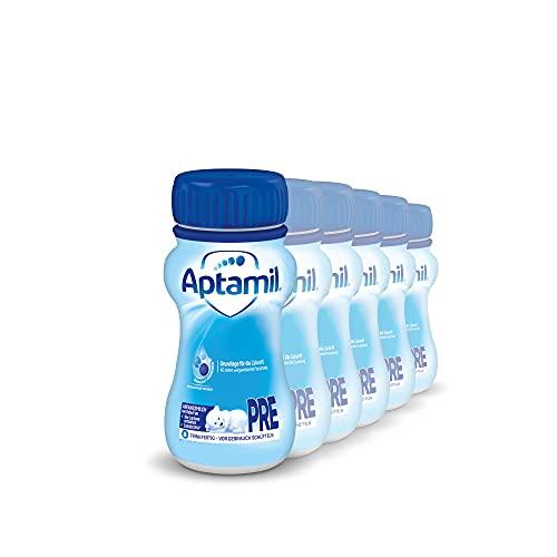 Aptamil Pronutra-ADVANCE PRE, Anfangsmilch von Geburt an, Baby-Milchnahrung, trinkfertig (6 x 200 ml)