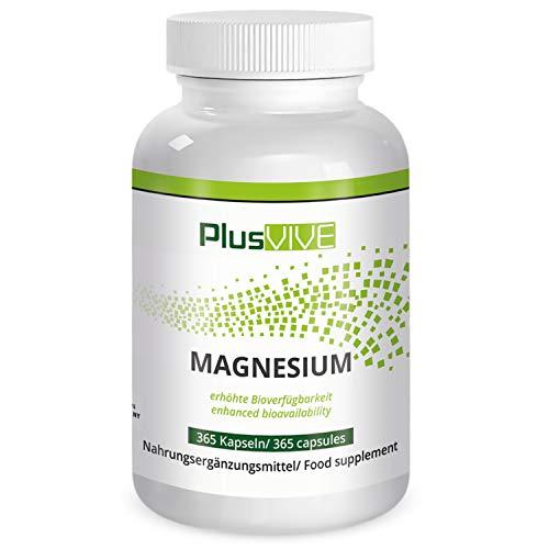 PlusVive - Magnesium Kapseln - hochdosiert: 700 mg aus Meerwasser gewonnenes natürliches Magnesium pro Kapsel...