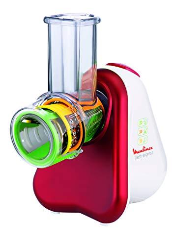 Moulinex DJ7535 Fresh Express 3 in 1 Elektrisches Schnitzelwerk / Gemüseschneider / Gemüsehobel   200W   3...