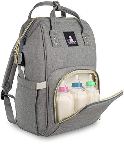 Piepers Babystuff Baby Wickelrucksack – Wickeltasche als Rucksack für unterwegs, mit viel Stauraum und...