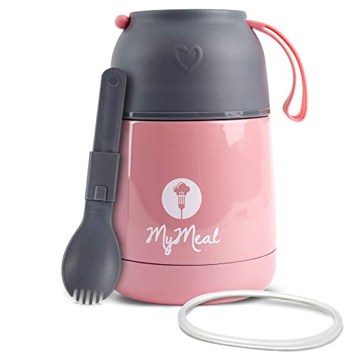 MyMeal Thermobehälter für Essen 450ml, Warmhaltebehälter Essen, Thermo Lunchbox, Thermobecher Essen,...