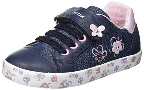 Geox B Kilwi Girl F Sneaker, AVIO/PINK, 27 EU