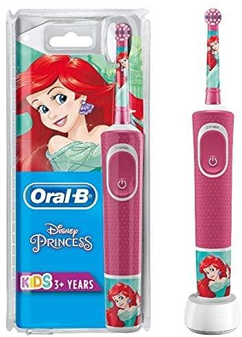 Oral-B Kids Prinzessin Elektrische Zahnbürste für Kinder ab 3 Jahren, kleiner Bürstenkopf & weiche Borsten,...