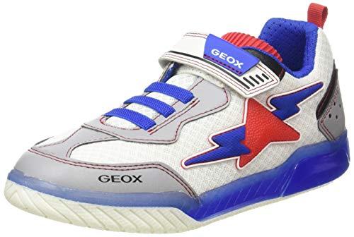 Geox Jungen J INEK Boy B Sneaker, Weiß (White/Royal C0293), 33 EU