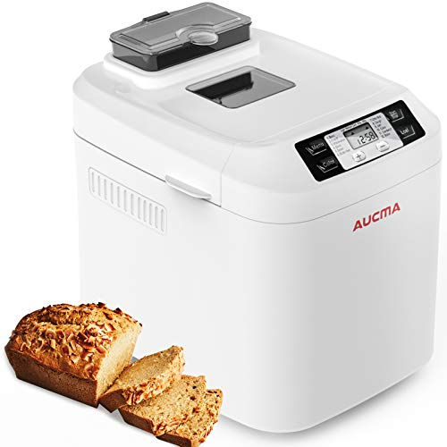 AUCMA Brotbackautomat Brotbackmaschine Brotbäcker 12 Backprogramme,Backmeister mit Automatische Zutatenbox,3...