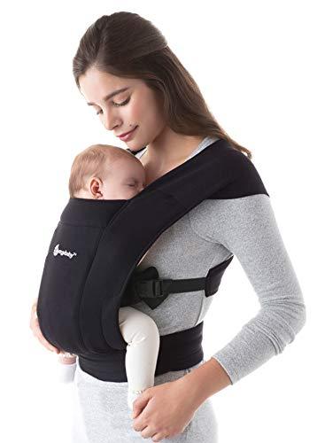 Ergobaby Babytrage für Neugeborene ab Geburt Extra Weich, Embrace Bauchtrage Baby-Tragetasche Ergonomisch,...